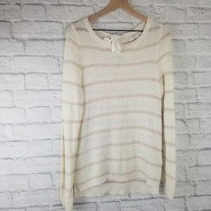 LC Lauren Conrad| Cream and Rose Gold Sweater